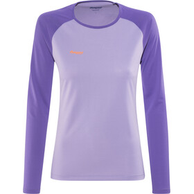 Bergans Slingsby Longsleeve Dames, soft lavender/funky purple/pumpkin